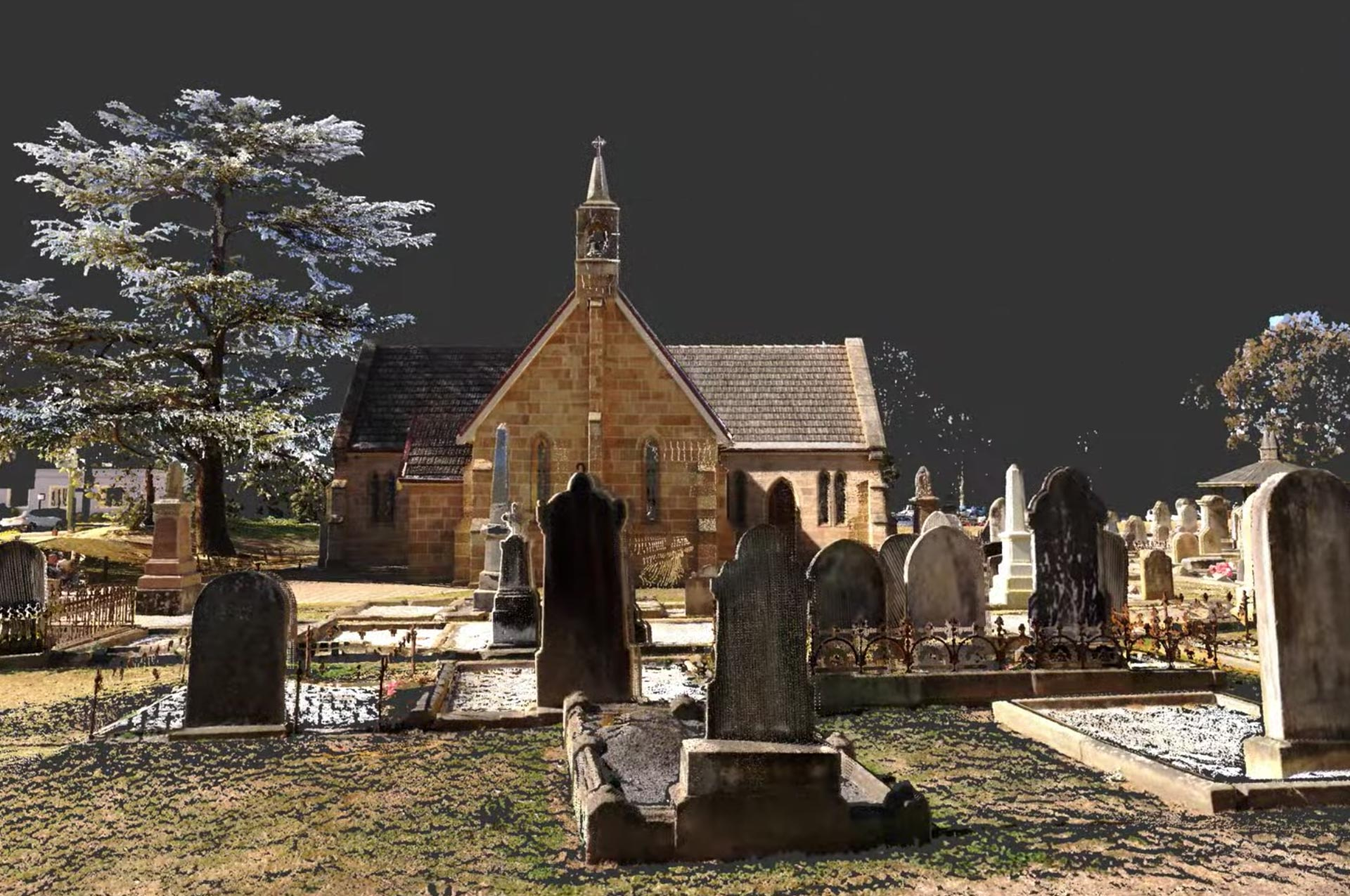 3D scanning Building of Saint Marys Church