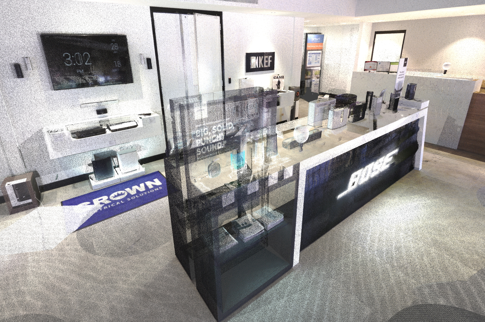 Indoor 3D Scanner at Crown Electrical's BOSE Showroom